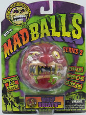 MADBALLS WOLF BREATH Mad Balls MadBall Zombie Head Drool Gross MOC S2 Retired