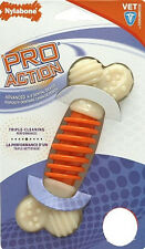 NYLABONE PRO ACTION DENTAL CHEW BONE TOY UP TO 25 LBS DOG FREE SHIP IN THE USA