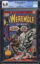 Werewolf by Night #32 CGC 6.0 OW/W Pages Origin 1st app Moon Knight UK Edition