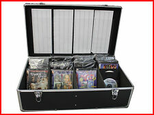 New Aluminum 840 Discs Movie Storage Mess Free case DVD Blu-Ray w Sleeves Black