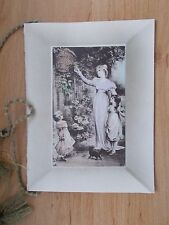 ANTIQUE 1911 CHRISTMAS CARD - MANY A KIND THOUGHT FOR A HAPPY CHRISTMAS