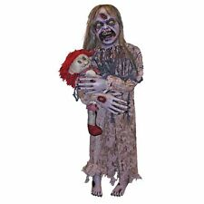 Little Girl Zombie Prop Dead Scary Zombie Holding Baby Prop Halloween Decoration