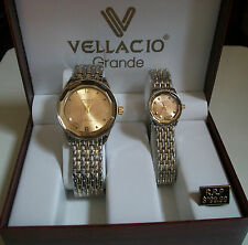 Vellacio his and her boxed elegant designer style watch set good for gift