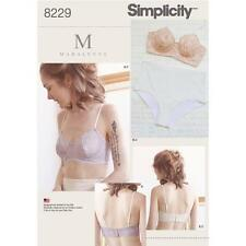 SIMPLICITY SEWING PATTERN MADALYNNE MISSES' UNDERWIRE BRAS & PANTIES 8229
