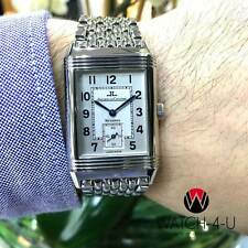 Jaeger LeCoultre Reverso Grande Taille 270.8.62 Steel Silver Dial Mens Watch