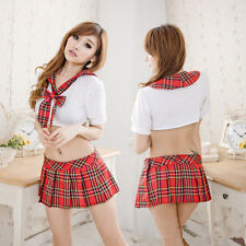 Sexy Lingerie Babydoll Costume School Girl's Uniform Fancy Dress Cosplay Outfits