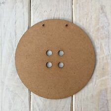 MDF Wood BUTTON Shape Plaque Blank Make Your Own Plaque Craft Shape 14cm