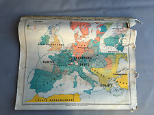 Ancienne carte scolaire école vintage instituteur  french antique map