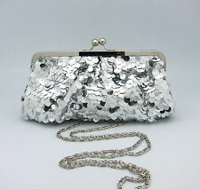 Sequin Breaded Dazzling Glitter Clutch Party Prom Wedding Soft Evening Bag