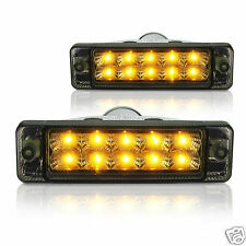 NEW, PAIR of Smoked, LED ARB Bullbar Indicators, Lights, Signals, lamps 135x38mm
