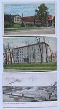 6  Vintage Bridge  Street & misc Aurora Illinois Postcards