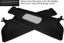 WHITE STITCH FITS RENAULT ALPINE GTA V6 2X SUN VISORS LEATHER COVERS ONLY