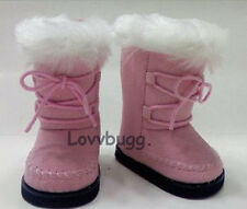 """Pink Furry Boots for 18"""" American Girl Doll Clothes Lovvbugg: Widest Selection!"""