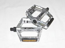 "New Free Agent Aluminum Platform Bicycle Pedals BMX MTB Bike 9/16"" Silver"