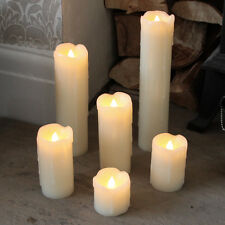 6 INDOOR BATTERY OPERATED CHRISTMAS DECORATION FLAMELESS WAX LED CANDLE LIGHTS