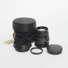 Leica Leitz M 50mm F2 Summicron E39 Normal Lens Haze with Hood & Case Bundle