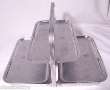CHASE DESIGNER ART DECO THREE TIER CHROME FOLDING SERVING TRAY 1930s