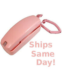 Pink Corded Trimline Phone Golden Eagle Desk Wall Retro New Telephone GE5303