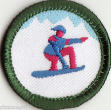 Retired Girl Scouts Junior Badge Patch~2000-2011~Winter Sports~Snowboarding