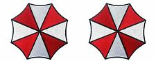 Velc. Resident Evil Umbrella Corporation Logo Iron on Patch set of 2