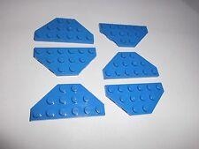 Lego (2419) 6 Trapez-Platten 3x6, in blau aus 10131 6955 7263 9499 5987 6983