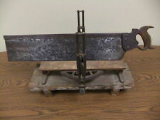 1904 Stanley Mitre Box with Disston & Sons Saw NICE