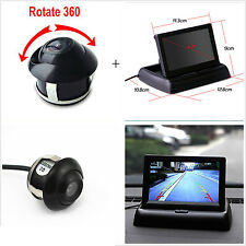 """4.3"""" Foldable LCD Display Monitor + 360° Front/Sides/Rear Reverse Parking HD Cam"""