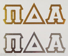 Alpha Delta Pi Temporary Tattoos (One Gold & One Silver) - Two Total