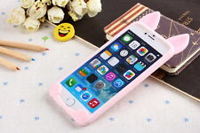 Fashion 3D Cute Cartoon Cat Ear Soft Silicone Case Cover For iPhone 7 6 6S Plus