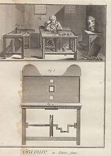 Diderot e D'Alambert, 1778, incisore di pietre preziose, arti e mestieri