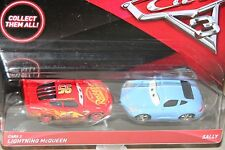 "DISNEY PIXAR CARS 3 ""2 PACK CARS 3 LIGHTNING MCQUEEN & SALLY"" NEW IN PACKAGE"