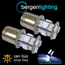 207 BA15s CANBUS ERROR FREE WHITE 9 LED HI-LEVEL BRAKE LIGHT BULBS HID HBL201001