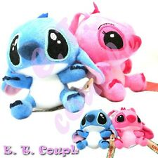 Disney Stitch couple plust decoration adorable keychain