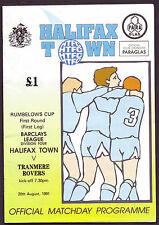 HALIFAX TOWN V TRANMERE ROVERS 1991 PROGRAMME ORIG HAND SIGNED WITH 18 X SIGS