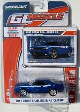 GREENLIGHT GL MUSCLE SERIES 7 2011 DODGE CHALLENGER R/T Deepwater Blue Bleu Fone