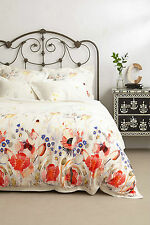 NEW Anthropologie Garden Buzz FULL Duvet Cover + Set of 2  STANDARD Shams