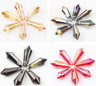 10/20PCS Faceted Teardrop Glass crystal Charm Loose Spacer Beads Finding 15X6MM