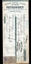 """CLERMONT-FERRAND (63) ROUENNERIE DRAPERIE LAINAGES """"PEYRONNET"""" en 1891"""
