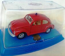 VERY RARE GAMA VW 1302 BEETLE FIRE CAR FEURWEHR MADE IN GERMANY 1970 MINT IN BOX
