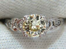 $13500 1.33c vintage class old mine cut natural diamond engagement ring platinum