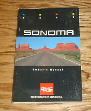 Original 1993 GMC Sonoma Owners Operators Manual 1st Edition 93