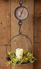 Primitive Kitchen Hanging Scale Country General Store Produce Scale Cast Iron