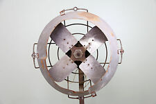 "Vintage Industrial Century Floor Fan Pedestal 18"" Blades Steampunk Powerful old"