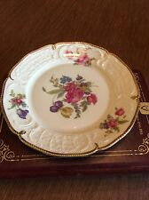 Diplomat Sanssouci Rosenthal Ivory Gold Floral Germany Salad Plate