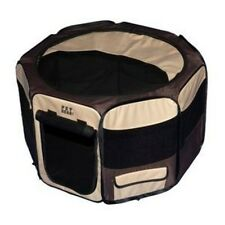 "Pet Gear Travel Lite Dog Puppy Cat Kitten Pet Play Pen with Top Sahara 17"" H"