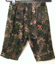 GIRLS QUALITY GREEN MILITARY/CAMOUFLAGE 3/4 STYLE CASUAL TROUSERS - 6 YEARS -NEW