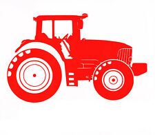 Red Personalised Tractor Vinyl Car Truck Window Sticker Decal Wall glass mirror