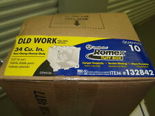 Southwire Romex-Old Work-2 Gang Heavy Duty Non Metallic Tuff Box-Lot of 10-34cu""