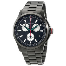Gucci G-timeless Chronograph XL Black Dial Mens Watch YA126268