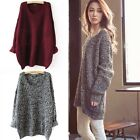 Womens Oversized Batwing Sleeve Cable Knitted Sweater Cardigan Loose Jumper Tops